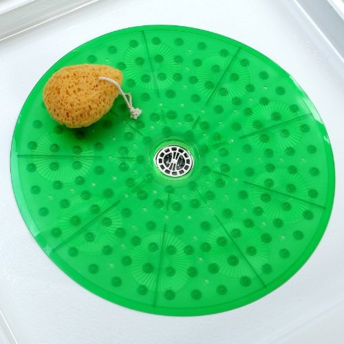 Essential Round Shower Mat - Green