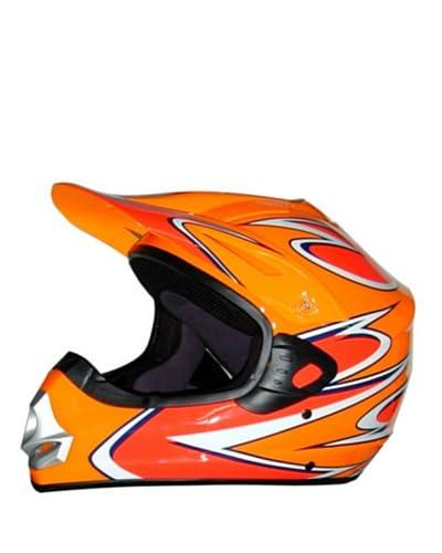 Nzi Casco Integrale Motocross Team Repsol Dakar [Arancione]