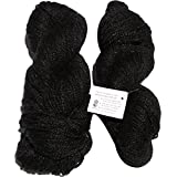 Vardhman Acrylic And Nylon Knitting Wool, Pack Of 2 (Deep Black)