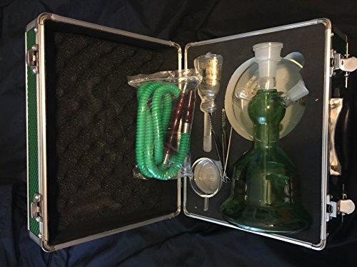 Al Fakher Glass Hookah 14″, (Green)