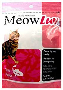Meow Luv Tuna Flavor Cat Snacks, 2.1-Ounce Pouches (Pack of 30)