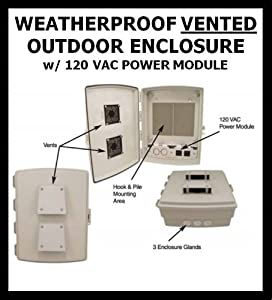 Outdoor Weatherproof Vented Enclosure Box With 120 Vac