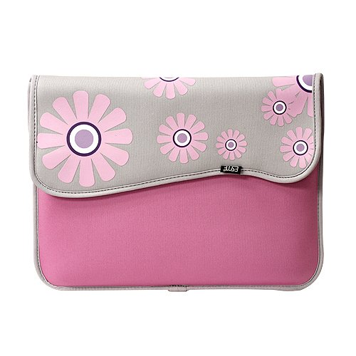 Retro Style Velcro Neoprene with Additional Pocket (Pink Flowers) for Acer AC700-1099 Chromebook (Wi-Fi)