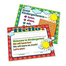 Teacher Peach Welcome-to-Kindergarten Certificates 50 Pack