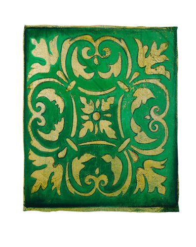 Thumbprintz Coral Fleece Throw Blanket, 60 By 80-Inch, Green Mosaic front-427743