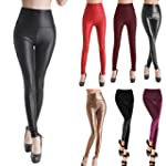 SEXY Womens Girls Faux Leather High W...