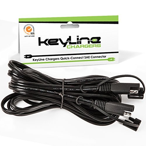 KeyLine Chargers KC-12-5-ft-ext 12.5 ft Extension Cable Cord for Universal (SAE) Quick Connect - Accessory for Battery Tenders, Maintainers and Conditioners (Car Battery Extension Cables compare prices)