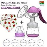 Q-JING Manual Breast Pump (Color: purple)