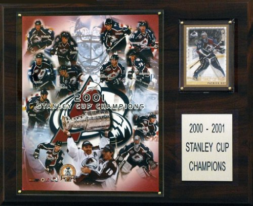 "C&I Collectables Sports Team Logo Design NHL 12""x15"" Colorado Avalanche 2001 Stanley Cup Champions Plaque"