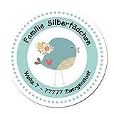 24 individuelle Adressaufkleber - Motiv Vögelchen - Etiketten Sticker