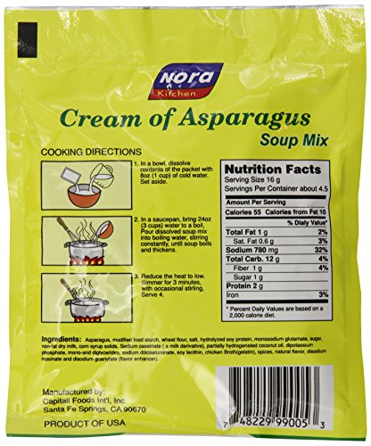 Nora Cream of Asparagus Soup Mix, 2.45-Ounce (Pack of 6) Food ...