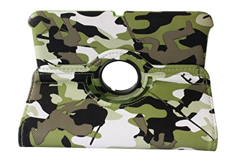 "Istyle Dealer Newly Designed Pu Leather Luxury Stylish Slim-Fit Ultra Lightweight 360 Degrees Rotating Swivel Stand Camouflage A-Tacs Camo Meisai Pattern Design Series Smart Cover Case Skin Multi-Angle Viewing For Amazon Kindle Fire Hd 7"" Tablet (Only For"