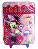 Disney Minnie Mouse Girls Large Pilot Case - Rolling Luggage Travel Backpack