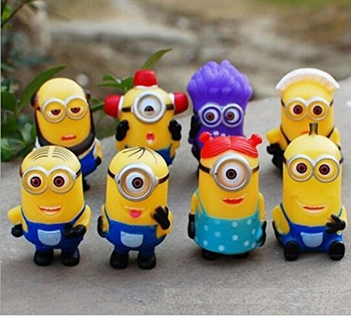 16pcs/lot Hot 4-6cm Mini Despicable ME Yellow Minion Toys Kids Cute Dolls kids PVC Movie Figures Minions Doll Puppets Model Gift