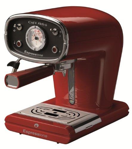 Espressione New Café Retro Espresso Machine, Red (Red Espresso Machine compare prices)