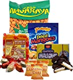 Assorted Filipino food/snacks , Nagaraya Cracker nut, Dried Philippine Mango, Choco mallows, Melon Cake (Pack C)