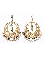 Amethyst By Rahul Popli White Gold Plated Dangle & Drop Earrings - B00OYSBC1K