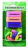 Ticonderoga Office and School Eraser Combination Set, 15 Eraser Multi-Pack, Multicolored (38931)
