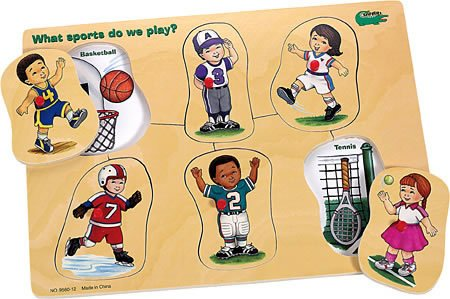 Picture of Safari Ltd What Sports Do We Play? - Peek Inside Peg Puzzle (B001F67FT2) (Pegged Puzzles)