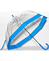 Elite Rain Umbrella Clear Classic Bubble Umbrella - Red Trim
