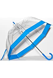 Elite Rain Umbrella Clear Classic Bubble Umbrella - Red Trim