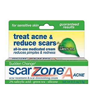 Sudden Change Scar ZoneA Acne Treatment &amp; Scar Diminishing Cream with Green Tea for Sensitive Skin, .5 oz.