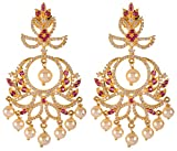 Violet & Purple Gold Alloy Dangle & Drop Earrings for Women (1000030610)