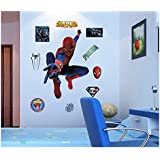Dushang Cool Spider-Man 3D Wall sticker for Bedroom and living room Children Home Decor