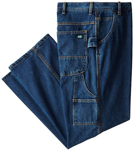 Key Apparel Men's Performance Denim Dungaree, Indigo, 40x34