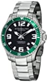 Stuhrling Original Men's 395.33P154 Aquadiver Regatta Champion Professional Diver Swiss Quartz Date Green Bezel Watch