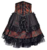 Dark Star Ornate Gothic Brocade/Tulle Bodiced-Skirt DS/DR/7585 Halloween Steampunk Victorian Fairy