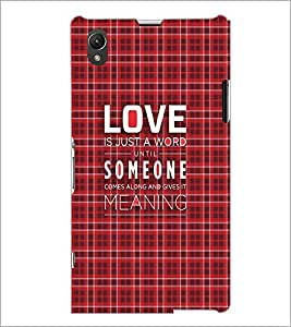 PrintDhaba Quote D-3499 Back Case Cover for SONY XPERIA Z1 (Multi-Coloured)