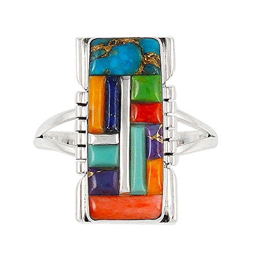 925-sterling-silver-ring-with-genuine-turquoise-and-semiprecious-gemstones-size-5-to-13