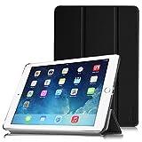 【Fintie】iPad Air 2 (2014) 専用 保護ケース 三つ折スタンドタイプ 高級PUレザー 超薄型 最軽量 オートスリープ機能付き スマートケース カバー (ブラック)