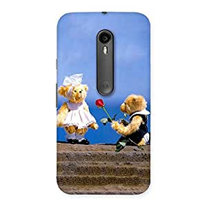 Gorgeous Proposal Teddy Multicolor Back Case Cover for Moto G3