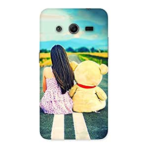 Ajay Enterprises cute girl and doll Back Case Cover for Galaxy Core 2