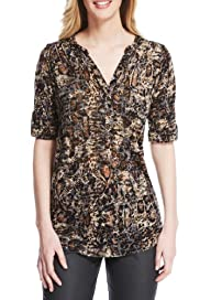 M&S Collection Animal Print Shirt [T43-1142-S]