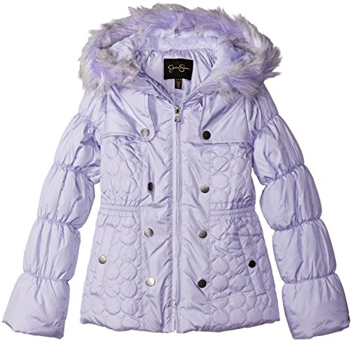 Jessica Simpson Toddler Girls' Heavyweight Heart Quilted Puffer, Lavender, 4T (Jessica Simpson Quilted compare prices)