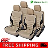 Autofact Brand PU Leatherite Car Seat Covers for Tata Nano in Beige and Black