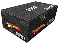 Hot Wheels Customized Basic Car 50-Pack - Exclusive Set in a storable box and Poster
