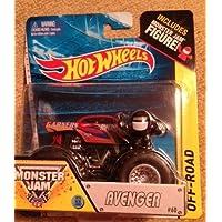 Hot Wheels Monster Jam AVENGER Red #60 Includes Monster Jam Figure #60