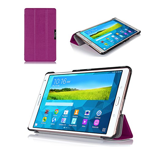 ProCase SlimSnug Case for Samsung Galaxy Tab S 8.4 (SM-T700), Ultra Slim and light, Hard Shell Cover, with Stand, Exclusive for 2014 Galaxy Tab S Tablet (Purple)