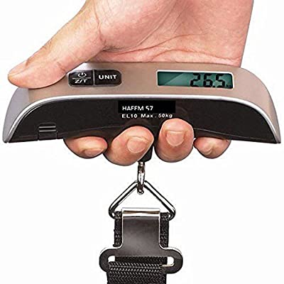 Pixnor Portable T-shaped 50kg/10g LCD Digital Electronic Luggage Scale with Room Temperature Display by Pixnor