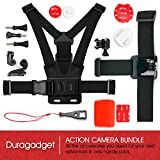 Action Camera 17-in-1 Extreme Sports Accessories Bundle - Compatible with the Oregon Scientific ATC 5K | ATC 9K HD | ATC Chameleon | ATC Mini Action Camera - by DURAGADGET