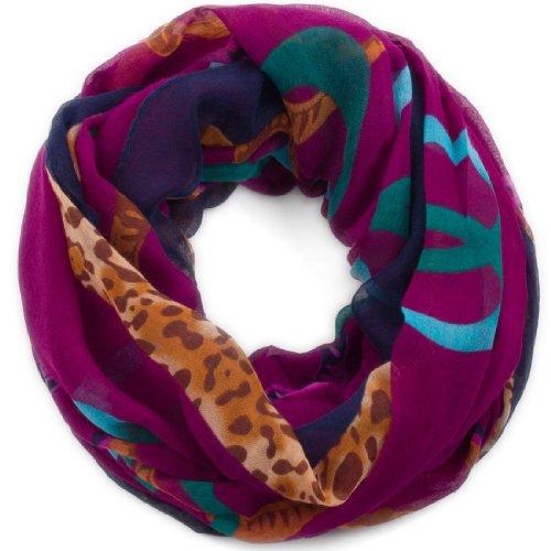 style3 leggero donna collo-sciarpa con Loop occhielli, in stile barocco Design italiano lilla Large