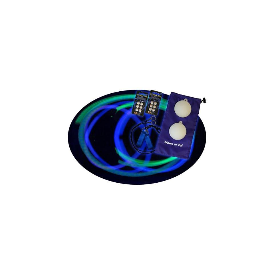 Multi Color LED Poi Set with Nylon Cords