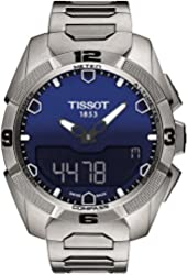 Tissot T-Touch Expert Solar Blue Dial Stainless Steel Mens Watch T0914204404100