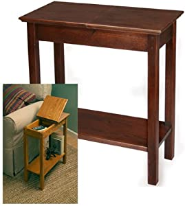 Chairside Storage Table in Golden Oak