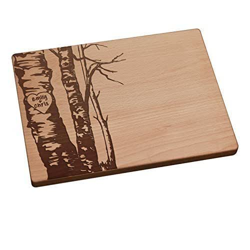 Bloxstyle Personalized Cutting Board Birch Trees Share