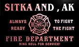 qy50586-r FIRE DEPT SITKA AND , AK ALASKA Firefighter Neon Sign